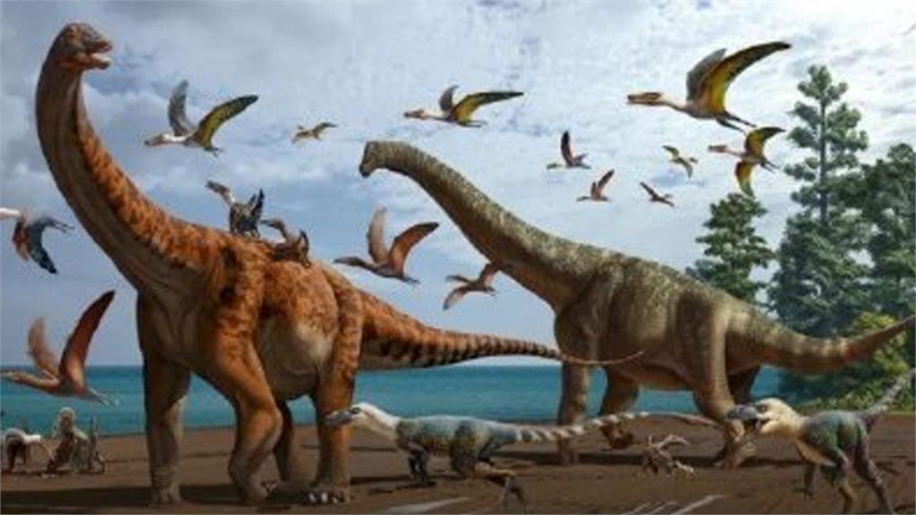 中國新疆恐龍考古新發現。示意圖/翻攝自微博