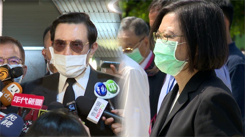 面對兩岸議題,馬英九和蔡英文兩位前後任總統隔空駁火。圖:台視新聞