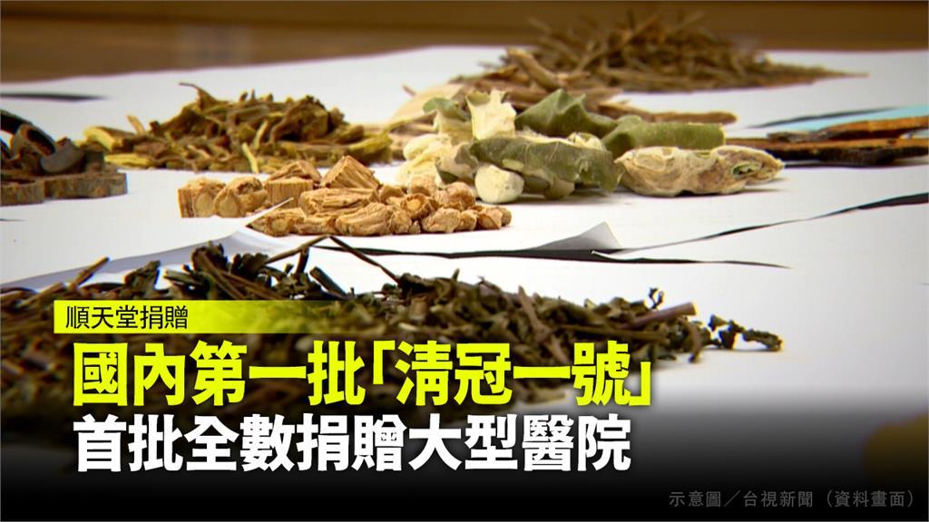 順天堂將首批「台灣清冠一號」全數捐出。圖/台視新聞(資料照)