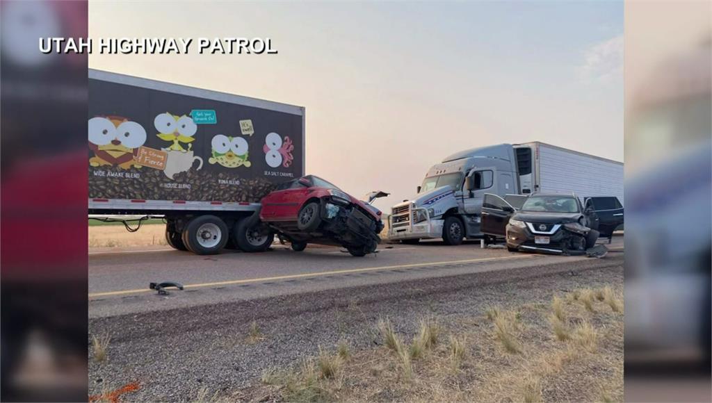 沙塵暴突襲! 美猶他州20車連環撞至少8死