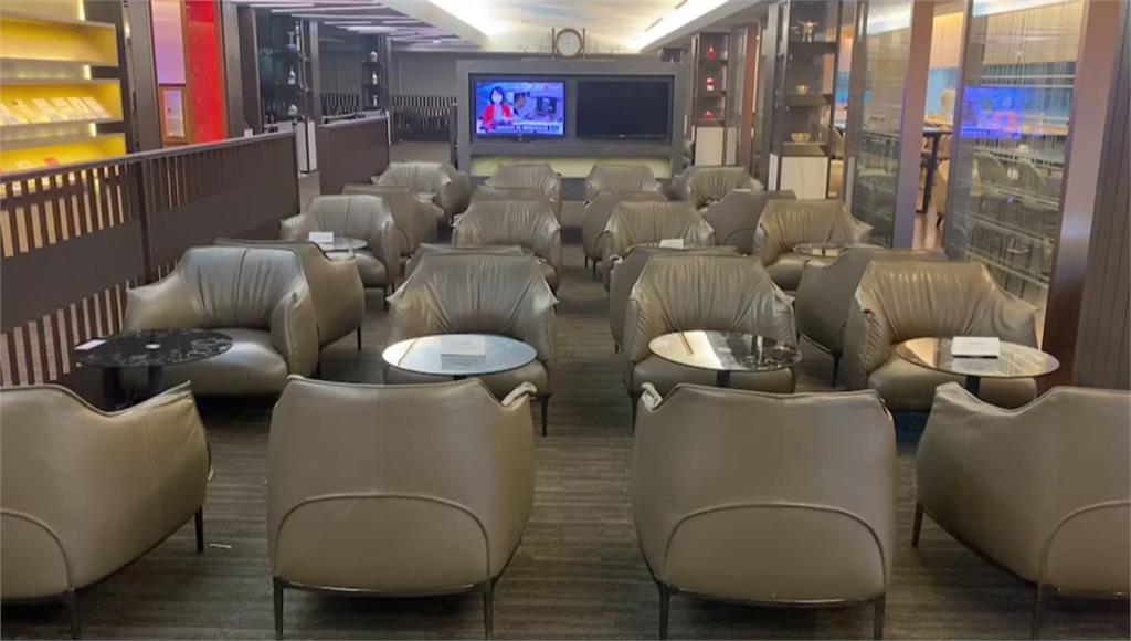 旅客買商務艙機票,卻無法在貴賓室吃東西。圖/台視新聞