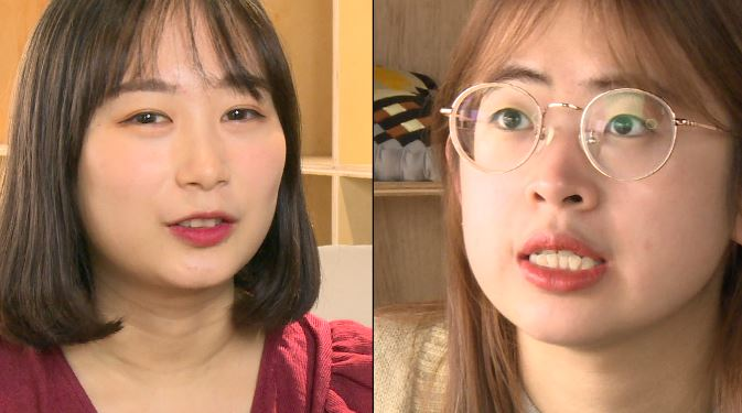 咪蕾(左)與Soya(右)受疫情影響,都無法回家過節。圖:台視新聞