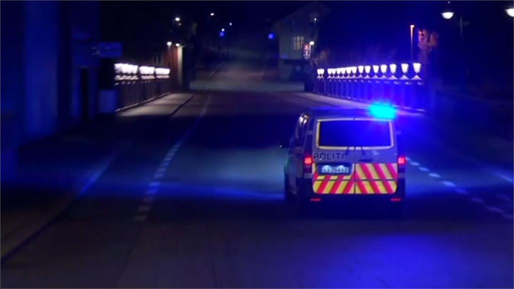 挪威發生隨機攻擊事件,一名男子持弓箭射擊民眾。圖/翻攝自AP Direct