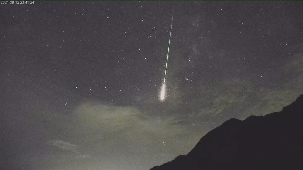 台東都歷遊客中心於23:40左右觀測到火流星。圖/東部海岸國家風景管理處