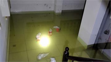 台中水情嚴峻還爆管 社區地下室淹水80公分