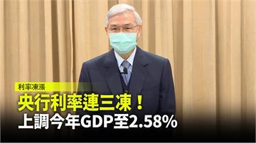 央行利率連三凍! 上調今年GDP至2.58%