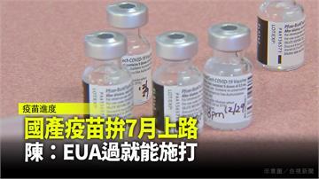 國產疫苗拚7月上路 陳時中:EUA過就能施打