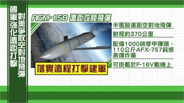 防中國動武 國防部向美採購AGM-158飛彈