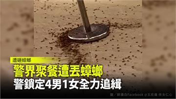 警界聚餐遭丟蟑螂 警鎖定4男1女全力追緝