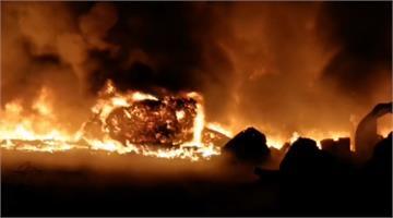 嘉義雜草竄火延燒回收場 1警消馳援受傷送醫