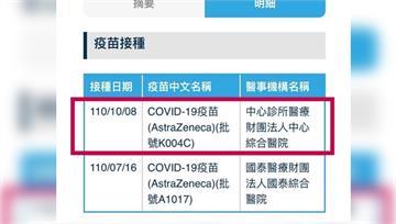 台北市民接種第二劑AZ 查紀錄驚見打「過期疫苗」...