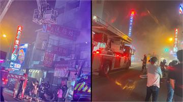 台中市中華路夜市民宅惡火 3童無生命跡象1男嗆傷