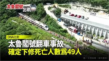 太魯閣號翻車事故 確定下修死亡人數為49人