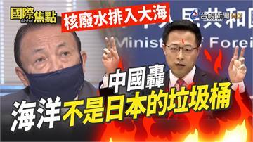 影/日本副首相稱核廢水「喝了也沒事」 中國嗆:海...