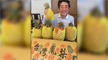 安倍晉三推特PO照 露牙笑讚台灣鳳梨好吃!