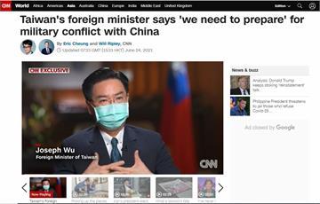 吳釗燮CNN專訪 坦言「須對武統做好準備」