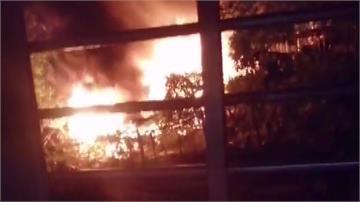 台北信義區山坡遭民眾占用種菜 晚間竄火