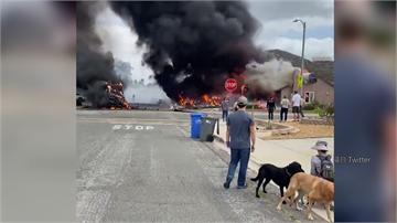 加州小飛機引擎故障 失控墜毀民宅2死