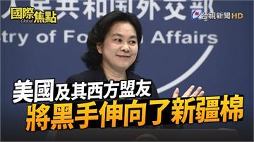 影/華春瑩公布影片「漂白」新疆棉 批美國顛倒是非