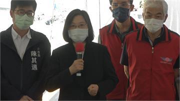 明霸克露橋便道開通 蔡總統挺進工區視察