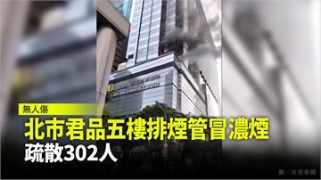 北市君品酒店5樓排煙管冒濃煙  疏散302人、無...