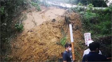 豪雨襲擊土石鬆動 高雄大社觀音山驚見山崩