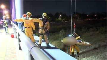 男子看夜景失足墜6米橋下 警消二次出動才尋獲