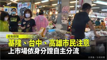基隆、台中、高雄市民注意 市場買菜依身分證自主分...