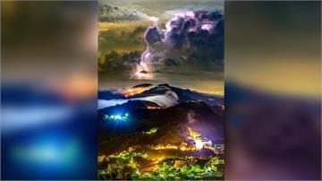 美!石棹「閃電琉璃光雲瀑」 攝影師跑60多趟終捕...