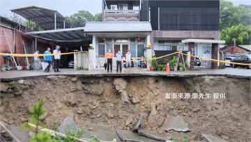 苗栗泰安、南庄大雨落石 緊急宣布停班停課