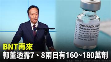 郭台銘曝BNT疫苗明、後天接力來!預計到貨160...