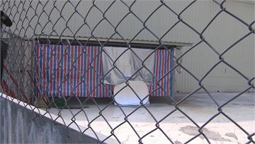 中國返台男搭棚居檢 汙水亂排嚇壞鄰居