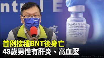 首例接種BNT後身亡  48歲男性有肝炎、高血壓
