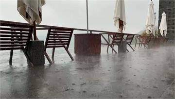 午後熱對流旺盛 日月潭傾盆大雨1小時