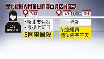 台北101、板橋小遠百櫃員染疫 緊急清消匡列採檢