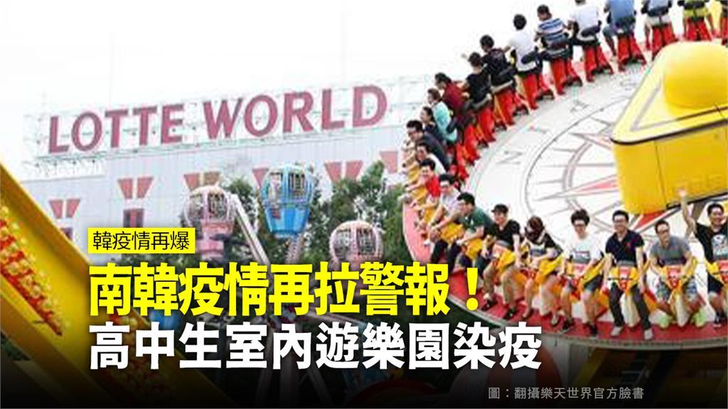 南韓高中生遊樂天世界後染疫。圖:台視新聞