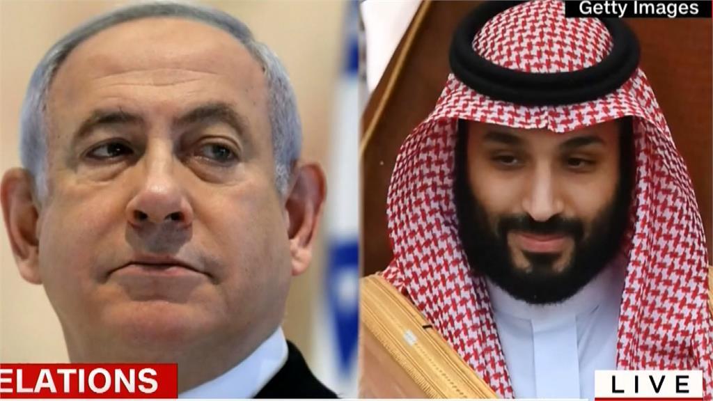 外媒報導,總理尼坦雅胡22日首度前往沙烏地阿拉伯,與沙國王儲穆罕默德.沙爾曼以及美國國務卿龐皮歐密談。圖:AP