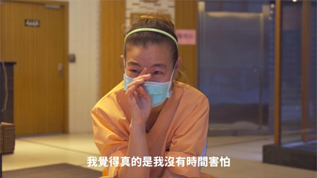新北護理師受訪落淚。圖/翻攝自Facebook@houyuih
