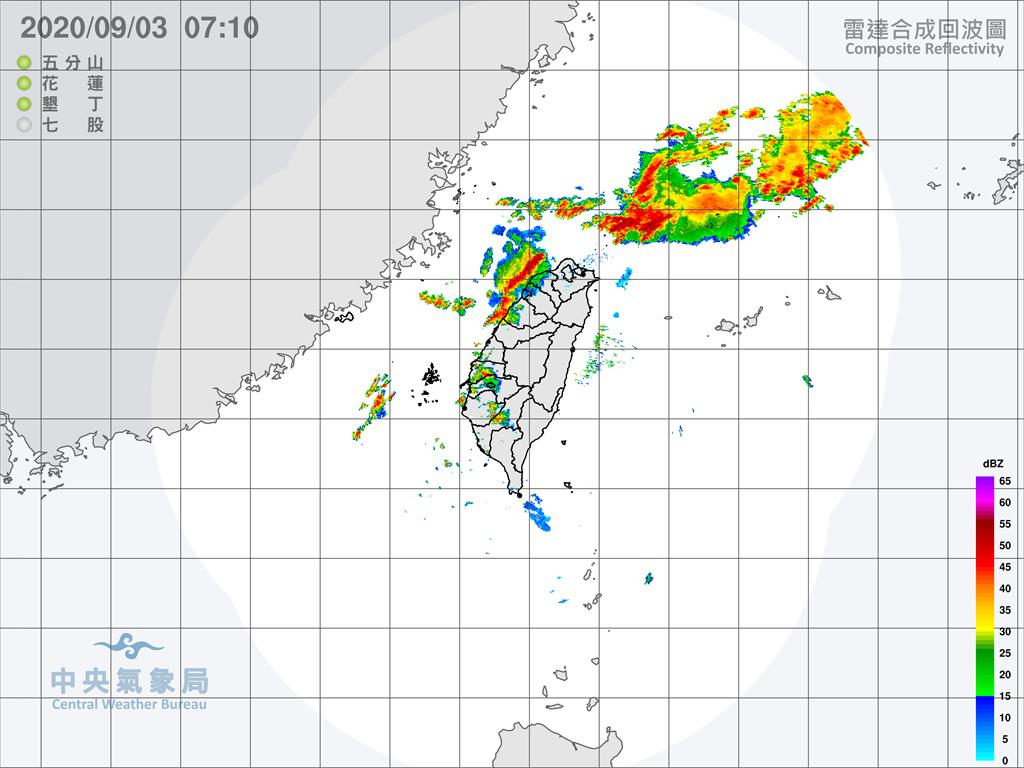 中央氣象局針對南高屏發布大雨特報。圖:氣象局