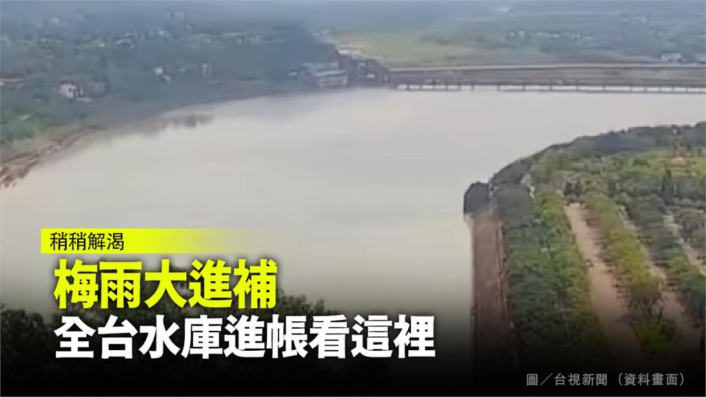 全台多個水庫昨單日大進帳。圖/台視新聞(資料照)