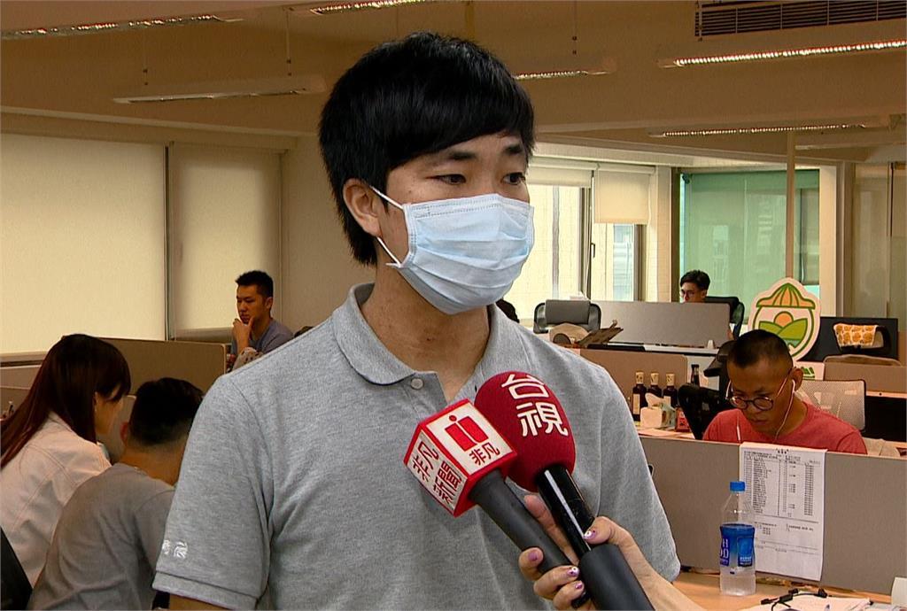 農產品網購平台行銷經理陳志杰說明整起事件的事情經過。圖:台視新聞