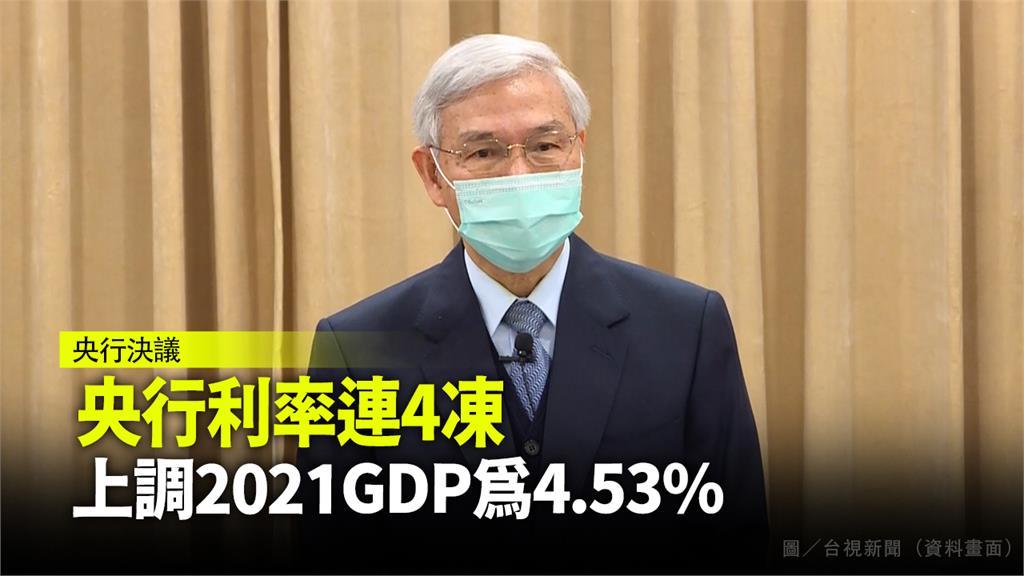 央行決議利率「連四凍」。圖/台視新聞