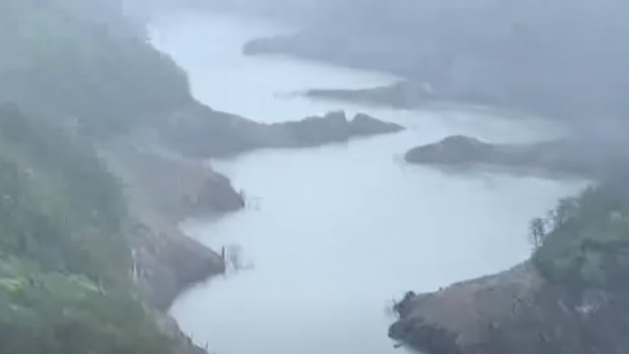 烟花颱風有望挹注中台灣水庫。圖/台視新聞