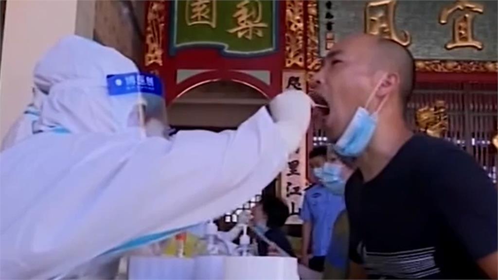 中國福建省單日暴增50例本土病例。圖/翻攝自CCTV