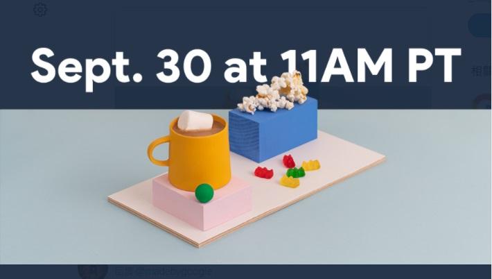 Google推特貼出爆米花、軟糖與熱可可,要讓粉絲們悠閒等待9月底發表會到來。(翻攝自Google推特)