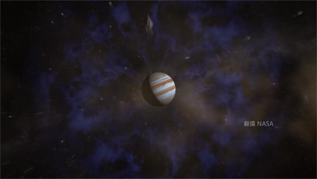 木星表面斑斕如虎,帶狀條紋。圖/翻攝自NASA
