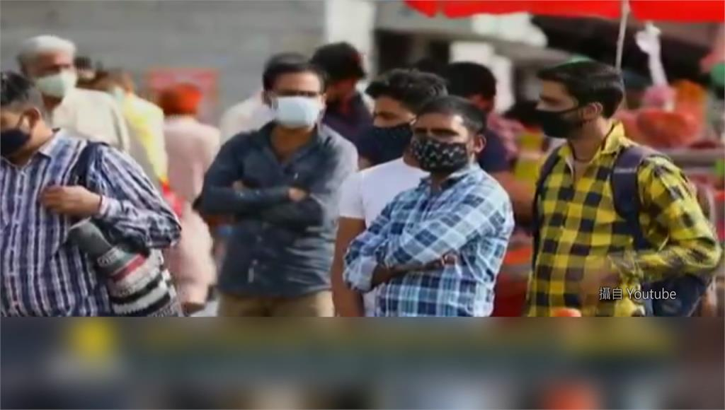 印度疫情過去一週呈現猛暴性成長。圖/翻攝自YouTube
