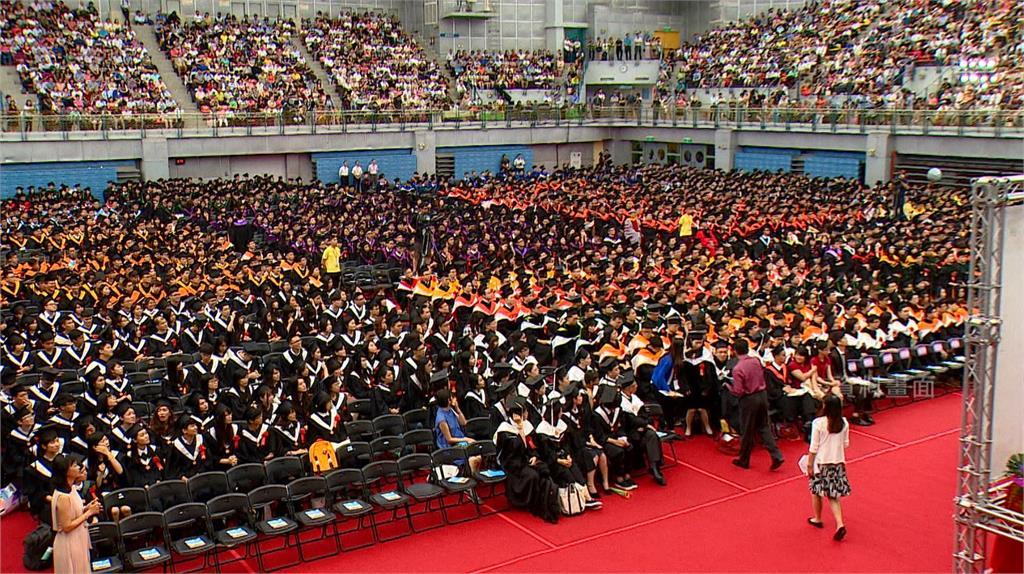 去年畢業生平均起薪,台灣比中國多8千元。圖:台視新聞(資料照)