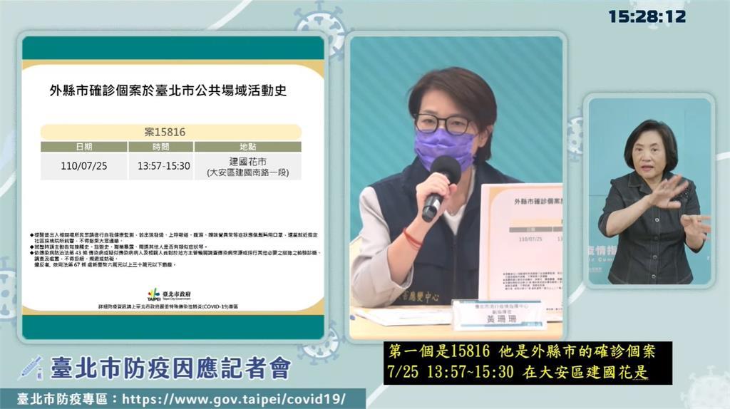 台北市今公布2例確診者足跡。圖/台視新聞