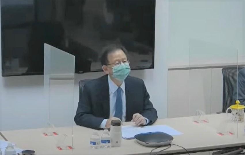 高端總經理陳燦堅回應要不要做三期試驗。圖/台視新聞